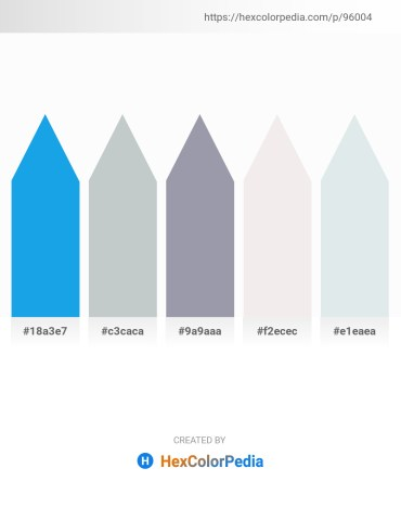 Palette image download - Dodger Blue – Light Sky Blue – Light Slate Gray – White Smoke – Light Steel Blue