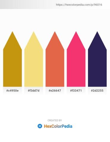 Palette image download - Dark Goldenrod – Khaki – Chocolate – Deep Pink – Midnight Blue