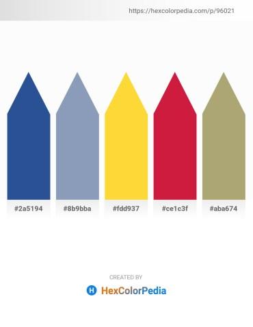 Palette image download - Dark Slate Blue – Light Slate Gray – Gold – Crimson – Dark Khaki