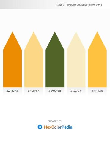 Palette image download - Dark Orange – Navajo White – Dark Olive Green – Light Goldenrod Yellow – Sandy Brown