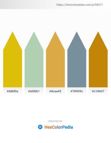 Palette image download - Gold – Dark Sea Green – Goldenrod – Light Slate Gray – Dark Goldenrod