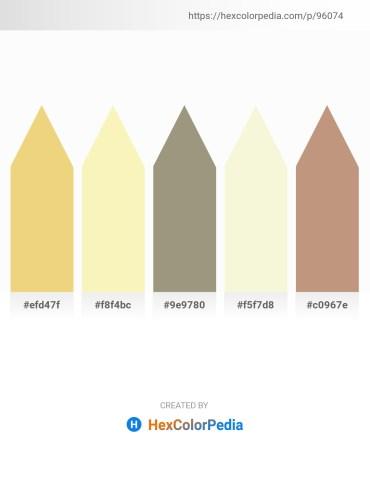 Palette image download - Khaki – Light Goldenrod Yellow – Dark Olive Green – Beige – Rosy Brown