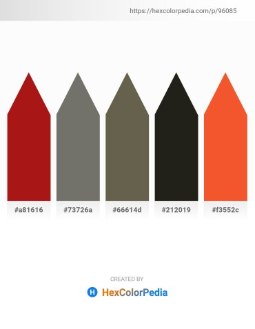 Palette image download - Firebrick – Dim Gray – Dim Gray – Black – Tomato