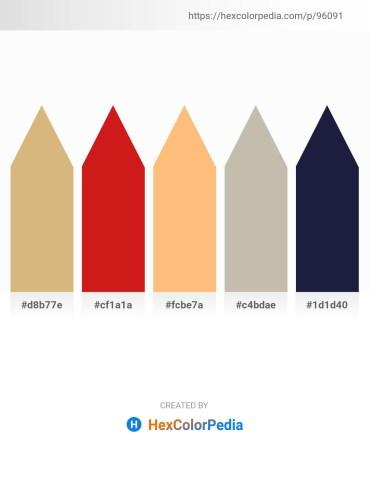 Palette image download - Burlywood – Crimson – Light Salmon – Silver – Saddle Brown