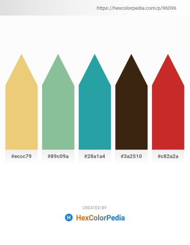 Palette image download - Khaki – Dark Sea Green – Light Sea Green – Dim Gray – Firebrick