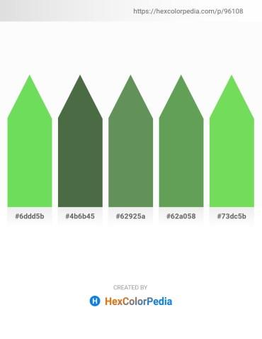 Palette image download - Yellow Green – Dark Olive Green – Royal Blue – Medium Sea Green – Yellow Green
