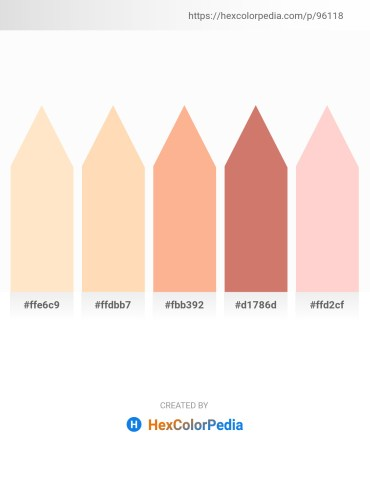 Palette image download - Bisque – Peach Puff – Light Salmon – Indian Red – Pink