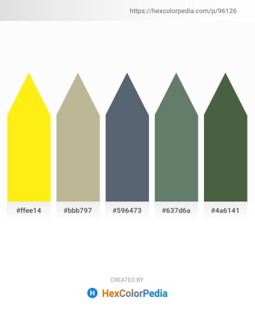 Palette image download - Yellow – Lavender – Slate Gray – Slate Gray – Dark Olive Green