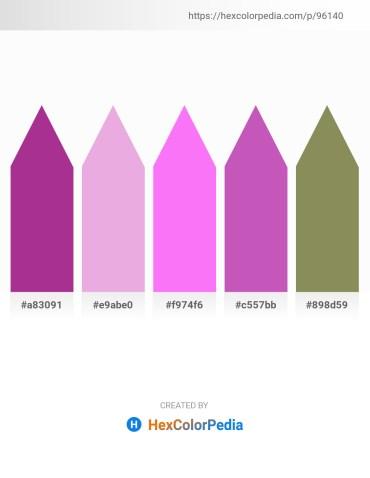 Palette image download - Medium Violet Red – Plum – Violet – Orchid – Dark Khaki