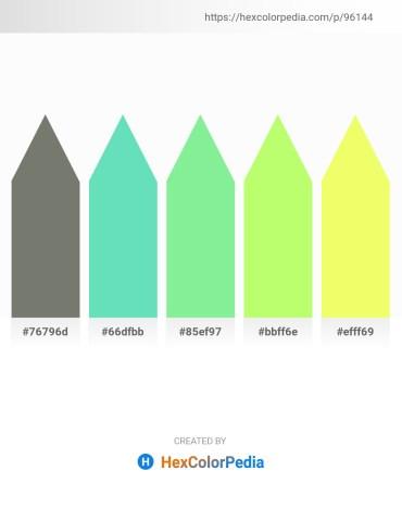 Palette image download - Dim Gray – Medium Turquoise – Light Green – Pale Green – Khaki