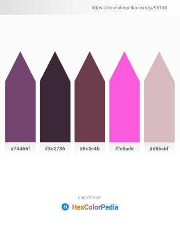 Palette image download - Sienna – Black – Medium Violet Red – Hot Pink – Thistle