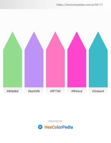 Palette image download - Light Green – Medium Slate Blue – Hot Pink – Hot Pink – Medium Turquoise