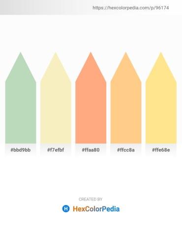 Palette image download - Dark Sea Green – Wheat – Light Salmon – Navajo White – Navajo White