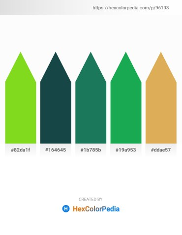 Palette image download - Yellow Green – Gray – Sea Green – Forest Green – Sky Blue
