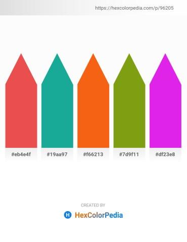 Palette image download - Tomato – Light Sea Green – Orange Red – Cadet Blue – Blue Violet
