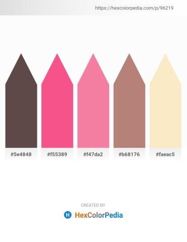 Palette image download - Dim Gray – Salmon – Light Coral – Rosy Brown – Antique White