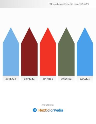 Palette image download - Sky Blue – Brown – Crimson – Dim Gray – Cornflower Blue