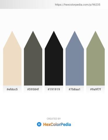 Palette image download - Beige – Dim Gray – Black – Light Slate Gray – Dark Sea Green