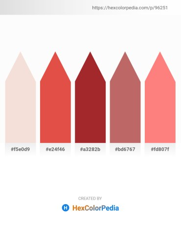 Palette image download - Linen – Chocolate – Brown – Indian Red – Salmon