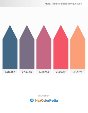 Palette image download - Dark Slate Blue – Slate Gray – Indian Red – Salmon – Light Salmon