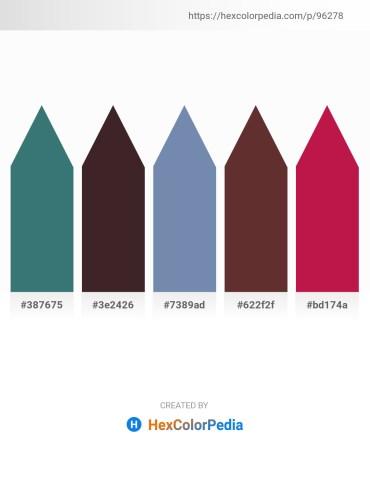 Palette image download - Sea Green – Peru – Light Slate Gray – Cadet Blue – Crimson