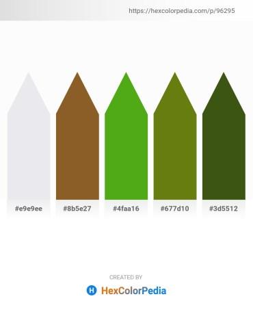 Palette image download - Light Steel Blue – Sienna – Olive Drab – Olive Drab – Forest Green