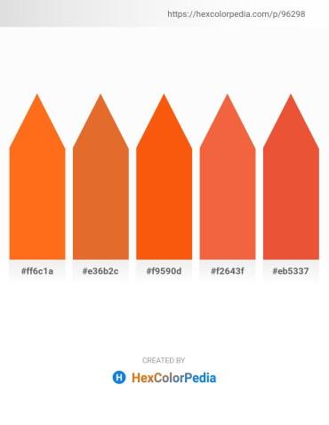 Palette image download - Dark Orange – Chocolate – Orange Red – Tomato – Chocolate