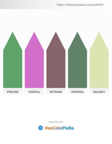 Palette image download - Olive Drab – Orchid – Dim Gray – Cadet Blue – Pale Goldenrod
