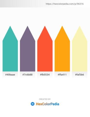 Palette image download - Medium Turquoise – Slate Gray – Tomato – Orange – Light Goldenrod Yellow