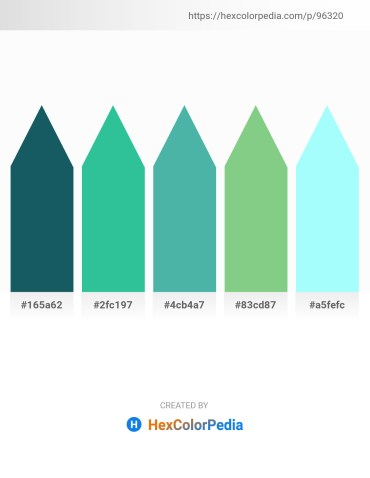 Palette image download - Royal Blue – Light Sea Green – Medium Aquamarine – Dark Sea Green – Aquamarine