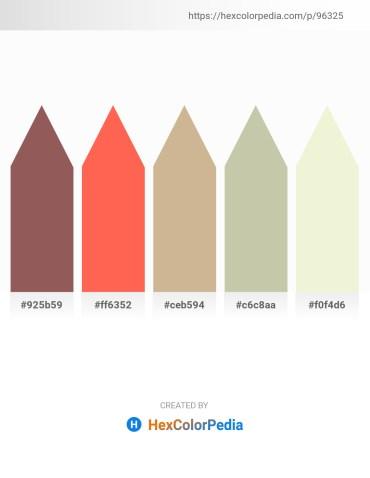 Palette image download - Dim Gray – Tomato – Tan – Dark Sea Green – Beige