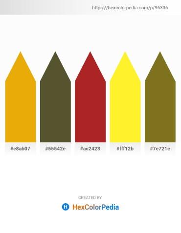 Palette image download - Orange – Dark Olive Green – Firebrick – Yellow – Olive Drab