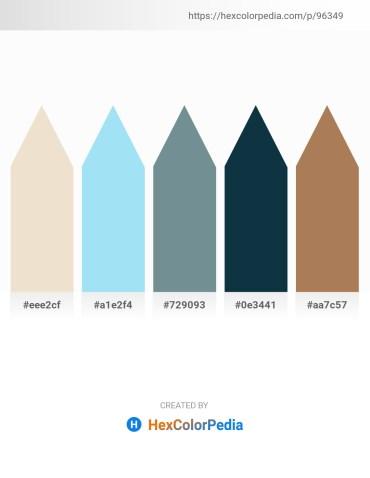 Palette image download - Beige – Sky Blue – Light Slate Gray – Black – Rosy Brown