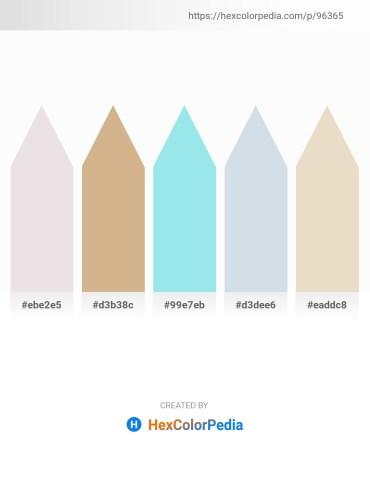 Palette image download - Gainsboro – Tan – Pale Turquoise – Light Steel Blue – Beige