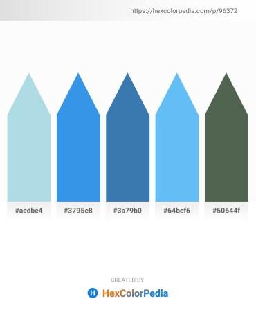 Palette image download - Powder Blue – Royal Blue – Steel Blue – Light Sky Blue – Dark Slate Gray