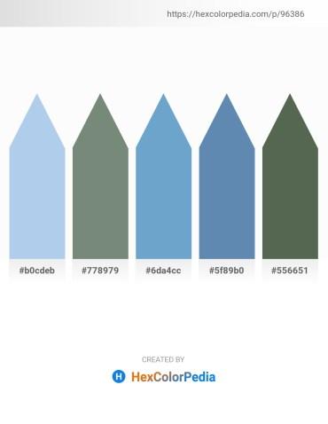 Palette image download - Light Blue – Slate Gray – Slate Gray – Steel Blue – Dark Slate Gray
