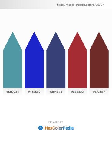 Palette image download - Cadet Blue – Royal Blue – Dark Slate Blue – Brown – Brown