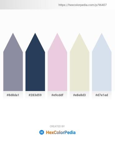 Palette image download - Light Slate Gray – Dark Slate Gray – Thistle – Beige – Light Steel Blue