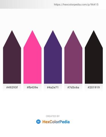 Palette image download - Saddle Brown – Hot Pink – Dark Slate Blue – Black – Black