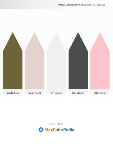 Palette image download - Dark Olive Green – Thistle – White Smoke – Dark Slate Gray – Pink