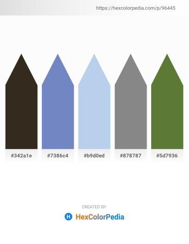 Palette image download - Dark Slate Blue – Steel Blue – Light Blue – Gray – Dark Olive Green
