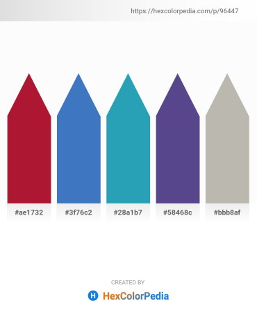 Palette image download - Firebrick – Steel Blue – Light Sea Green – Dark Slate Blue – Silver