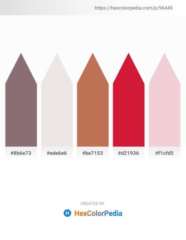 Palette image download - Gray – White Smoke – Indian Red – Crimson – Linen