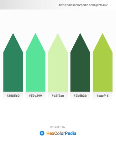 Palette image download - Sea Green – Turquoise – Pale Goldenrod – Dark Slate Gray – Yellow Green