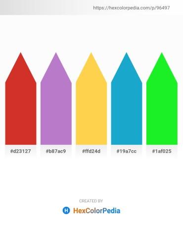 Palette image download - Firebrick – Medium Orchid – Sandy Brown – Light Sea Green – Lime