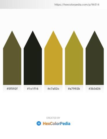 Palette image download - Dark Olive Green – Black – Goldenrod – Gray – Dark Olive Green