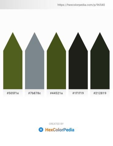 Palette image download - Dark Olive Green – Slate Gray – Dark Olive Green – Black – Dark Slate Gray