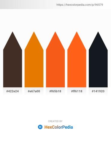 Palette image download - Saddle Brown – Dark Orange – Orange Red – Orange Red – Orange