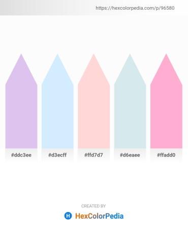 Palette image download - Lavender – Light Cyan – Misty Rose – Powder Blue – Light Pink
