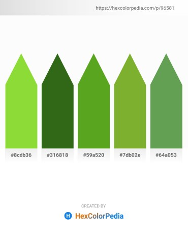 Palette image download - Yellow Green – Forest Green – Olive Drab – Yellow Green – Medium Sea Green